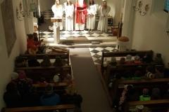 Bei der Nikolausfeier spielte traditionell eine kleine Abordnung der MK Pettnau.